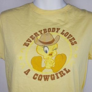 VTG Looney Tunes Tweety Cowgirl Shirt
